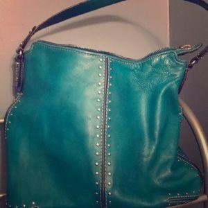 Michael Kors hobo.  Turquoise leather